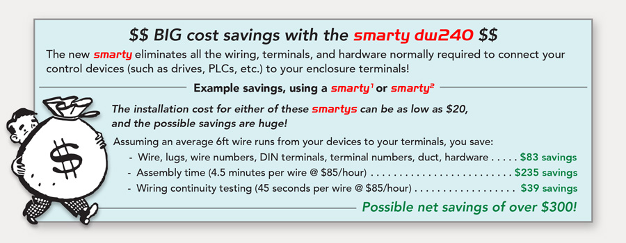 Save money with smarty dw240, the world's most advanced automation controller